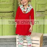 2015 Wholesale Children Boutique Clothes fashion Christmas Pajamas With 100%Cotton Kids Persnickety Clothing Set