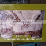 high-quality gift package towel and bathrobe sets with logo embroidered