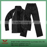 2012 100% polyester black sports coat,sports pants custom