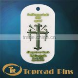 Strong great optional process product Plastic Cheap Military Name Key Ring Dog Tags With Holder