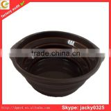 2015 dongguan wholesale silicone collapsible bowl for pet