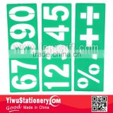 Green plastic Number 0123456789 stencil ruler drawing stencils                                                                         Quality Choice
