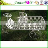 Hot Selling Novelty Vintage Antique Mini Tractor Shape Wrough Iron Flower Pot For Garden Home Patio I23M TS05 X00 PL08-4932G