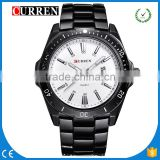 CURREN/CW028 2016 Men Fashion Casual Wristwatch Curren Business Men Military Date Display Stainless Steel Analog