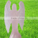 Wholesale small hand crystal carving angel,engraved gemstone angel