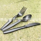 "7"" Eco-Friendly Plastic Luxury cutlery Plastic Straight Spoon, Plastic Fork, Plastic Knife"