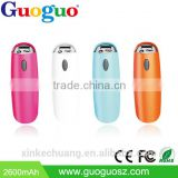 Guoguo high quality factory price colorful Hand crank portable 2000mAh power bank for xiaomi