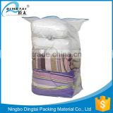 Folding space saver plastic cube vacuum packaging bag for clothes storage