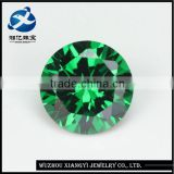Alibaba hot products round briiliant cut dark green bulk cubic zirconia stones
