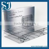 Trade Assurance FDA Approval 3 Tier Non-stick Stackable Wire Cake Baking Cooling Rack