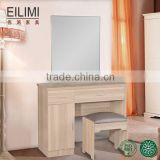 2016 Hot selling MDF panel material simple design cheap furniture dressing table with mirror