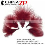 ZPDECOR Wholesale Cheap Dyed Burgundy Fluffy in Stock Turkey Marabou Feather for Earrings and Clothes Accessories