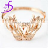 CZ Diamond Solid 925 Sterling Silver Rose Gold Plated Bangles Artificial bangles