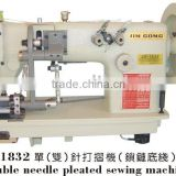 Inquiry About Double needle pleated machine