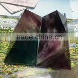 Natural colorful fluorite crystal stone pyramid for sale