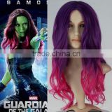 Guardians of the Galaxy Gamora black widow red curly cosplay wig synthetic wigs from manufacturer for wholesale