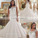 2016 cap sleeve wholesale sequined beaded custom made white XXL big size mermaid wedding gowns CWFw2281