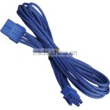 PCI Express 8 Pin PCIe Connector 8 Wire Video Card Extension Braided Sleeved Cable 45cm Blue / Blue