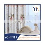 Softextile curtain fabric with foil printing new design luxurious window curtain foil printing fabric