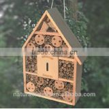 Eco-friendly handmade hanging wooden bee hotel