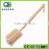 caved logo boar bristle wooden bath brush