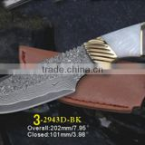 Fixed Blade Knife Type and Hunting Knife Application handmade damascus steel hunting knife