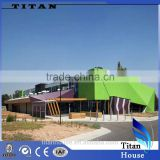 High Quality Light Steel Prefabricated Market Building Design