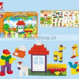 intelligence Happy Farm 100pcs plastic building blocks toys for kids