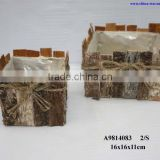 plantting baskets birch bark