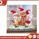 Sensor LED Christmas Decorative Dogs -Indoor or Outdoor Decorative garden Resin Sculpture