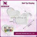 Newair nail beauty accessories manufacturers heart nail tip display