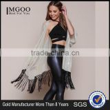 MGOO OEM Services Gold Dust Kimono Cardigan Fashion Tassels Tops Women Sexy Shawl Clothes Loose