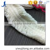 2.8 CM this white cotton bilateral short tassel ribbon lace