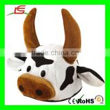 M260 Unisex Novelty Bull Cow Plush Animal Hats