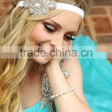 2016 fashion ladies Elegant fancy metal rhinestone headbands