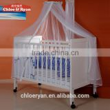 Children's bed wood crib baby bed multifunctional environmental Continental white cradle bed