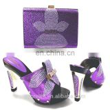 High quality matching lady bags and shoes set wholesale african women shoes and handbag s170407003