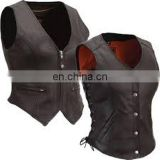 Women's Leather Motorcycle Vests