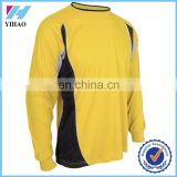 Yihao 2015 High Quality Men Long Sleeve Football Jersey Cheap Wholesae Breathable Contrast Soccer Jersey