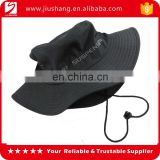 Cheap blank polyester bucket hat with ribbon