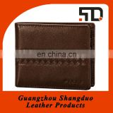 China handmade bifold Mens RFID leather wallet case