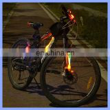 Twisted 3 Light Modes 24cm Length Portable Red Blue Travel Bike Light LED Bicycle Lamp