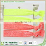 "5/8"" Neon colors stretch glitter hair ties"