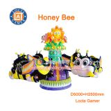 Zhongshan rotating kids rides mini honey bee for sale 8 seat Honey Bee, can control, up and down rotate, kiddie rieds
