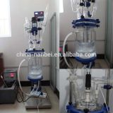 1-5L,10-150L double layer glass chemical reactor