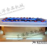 Sushi conveyor belt Sushi train conveyor belt food delivery system Sushi packing machine: michaeldeng@gdyuyang.com