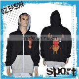 OEM custom made sublimation hoodies /sweatshirts fleece hoodie mens with hood fleece hoodie with different color