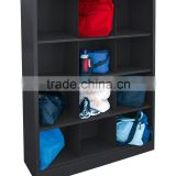 "Heavy Duty Welded All Steel Cubby Storage Cabinet with 12 Sections, pigen hole locker 46"" Length x 18"" Width x 66"" Height"