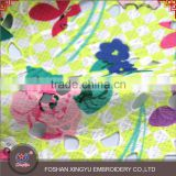 Leaf & flower pattern mesh 105-110cm 100% polyester embroidery printing lace chemical fabric