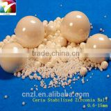 20% CeO2+ 80% ZrO2 ceria stabilized zirconia bead dia 0.6-10mm ball mill grinding media chemical composition